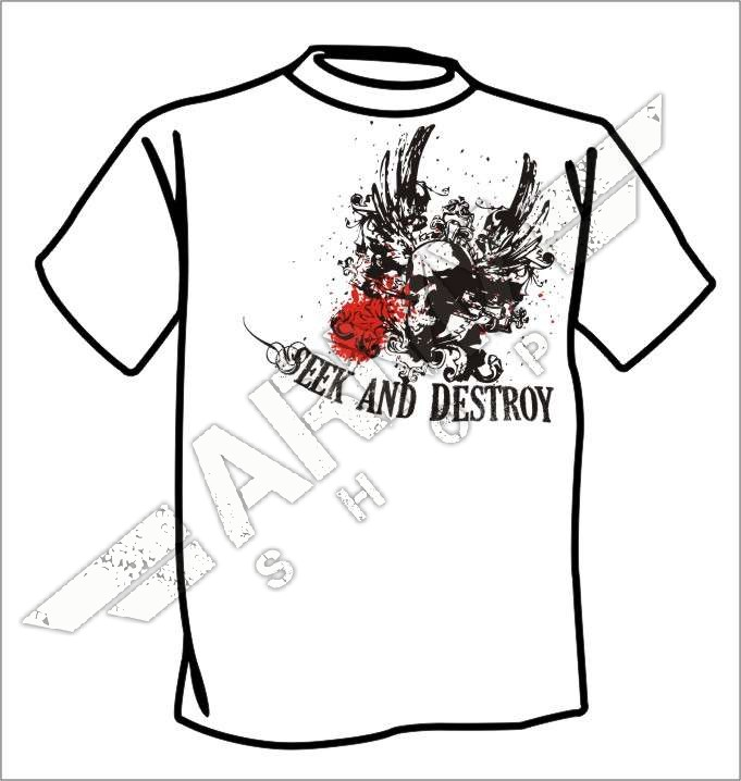 destroy rock and roll t shirt: