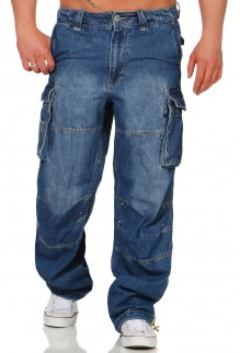 Pantaloni lunghi cargo jeans Safety A denim