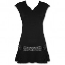 Vestito donna GOTHIC ROCK - Stud Waist Mini Dress