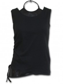 Top donna GOTHIC ROCK - vestito 2in1 in pelle PU