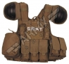 GILET TATTICO SWAT - Marrone
